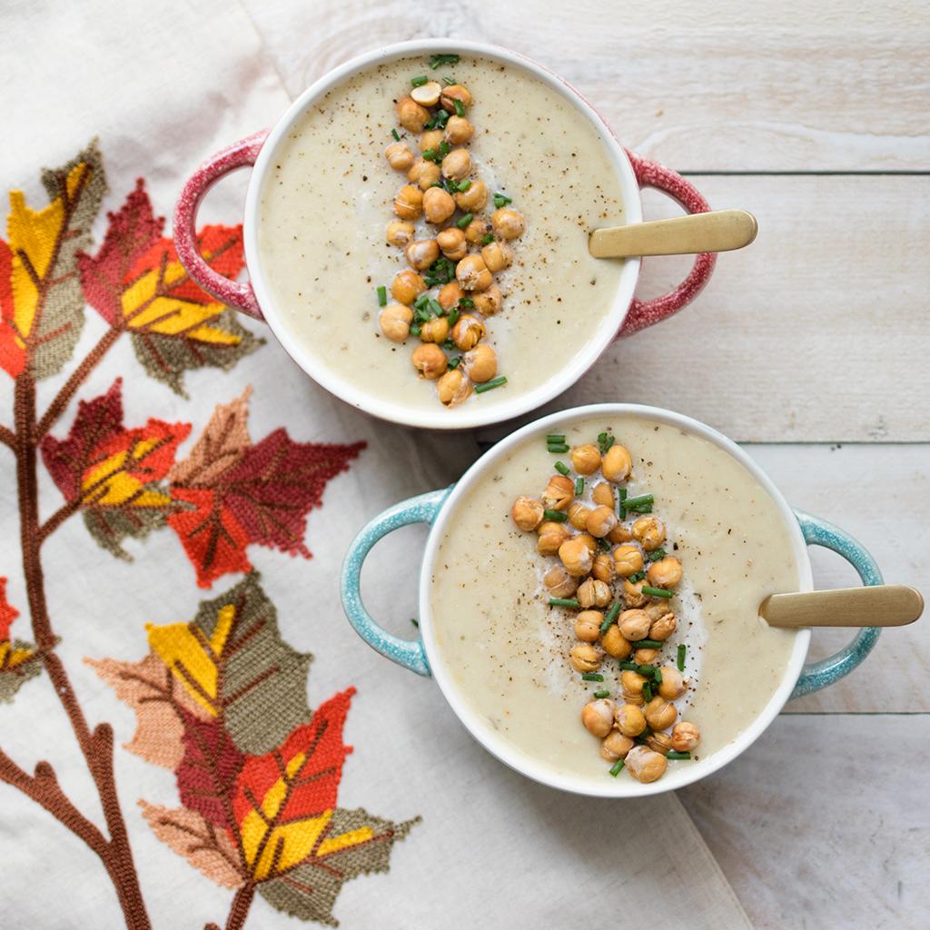 Crock Pot Vegan Potato and Leek Soup