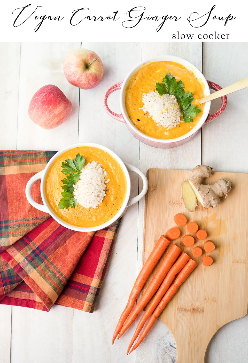 Crock Pot Vegan Carrot Ginger Soup