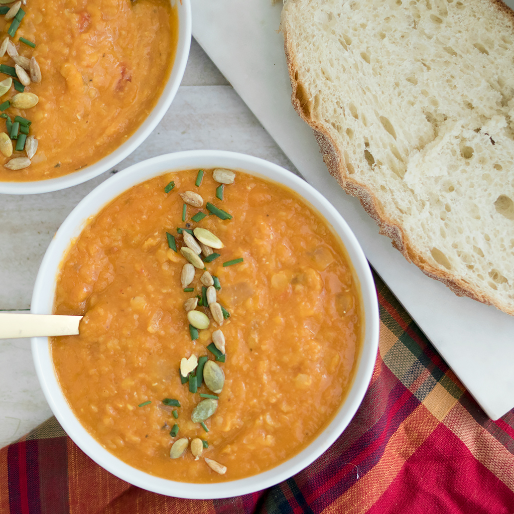 Crock Pot Vegan Butternut Squash Soup
