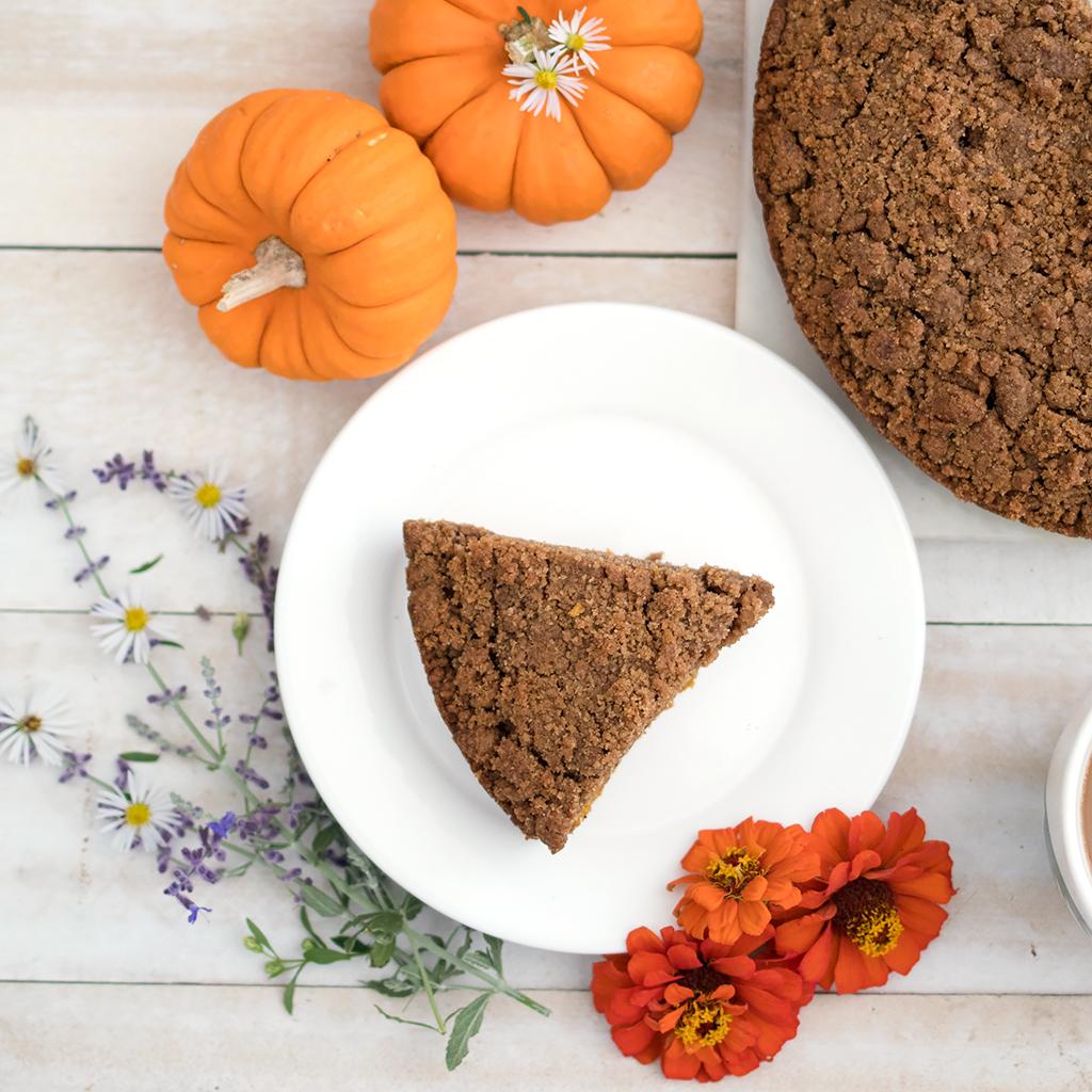 Ultimate Vegan Pumpkin Coffee Cake