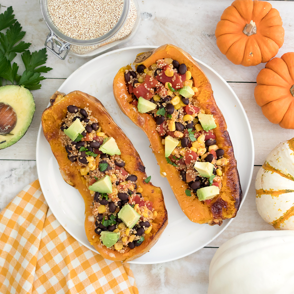 Vegan Stuffed Mexican Butternut Squash
