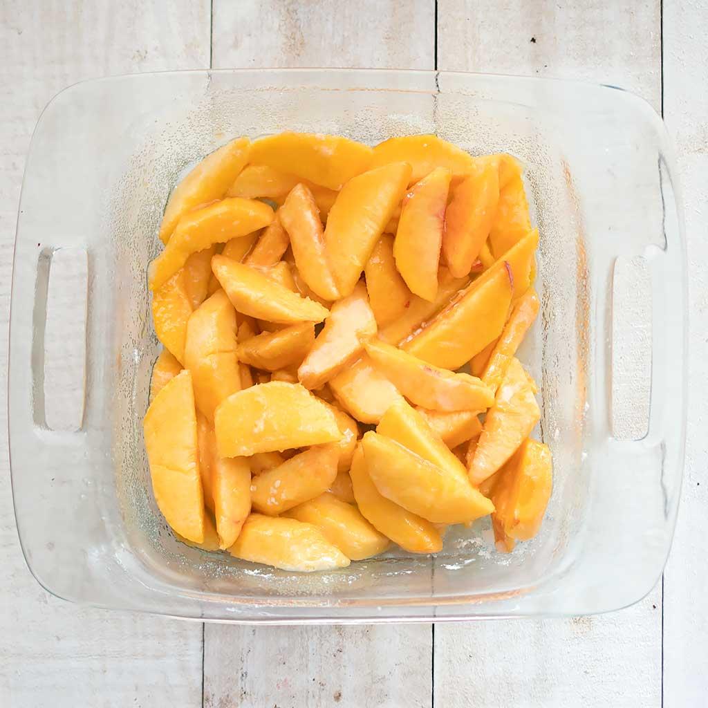 Best Vegan Peach Cobbler