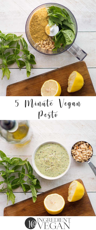 5 Minute Vegan Pesto