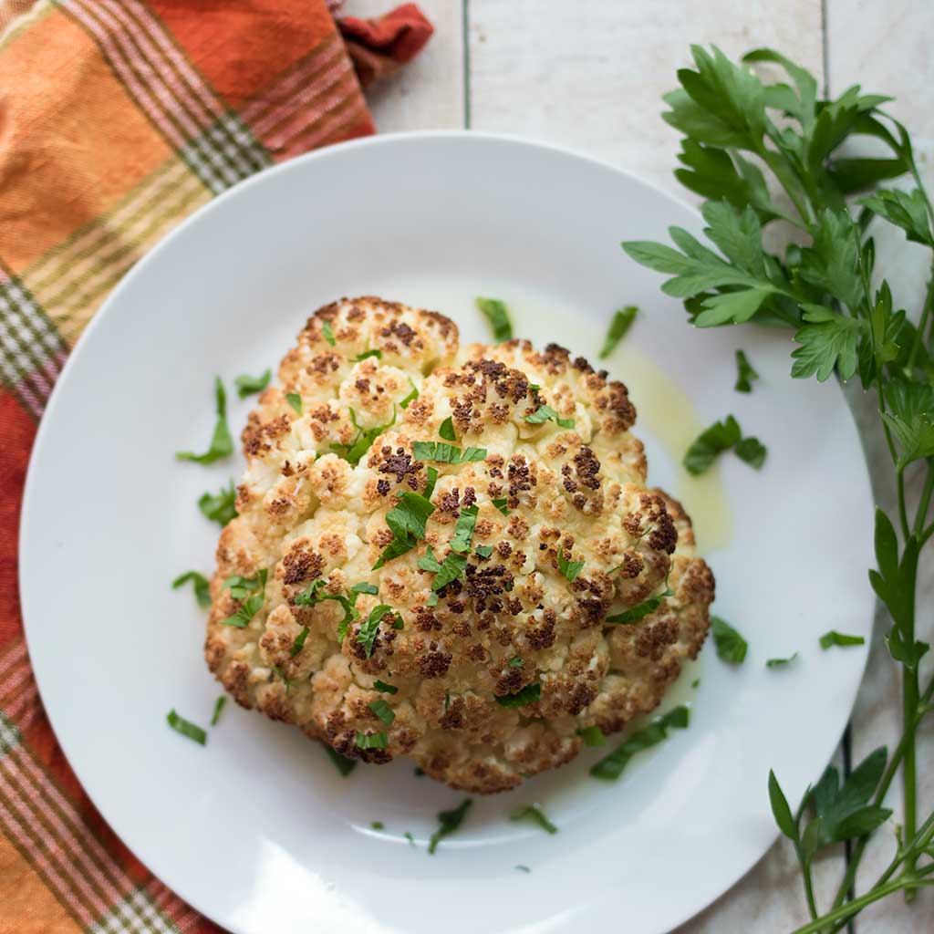 How to Roast Whole Cauliflower