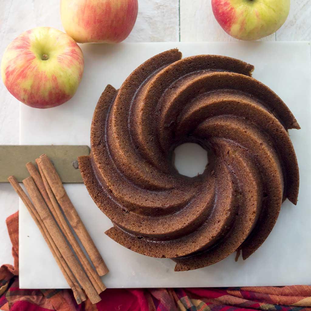 Vegan Spiced Apple Bundt Cake