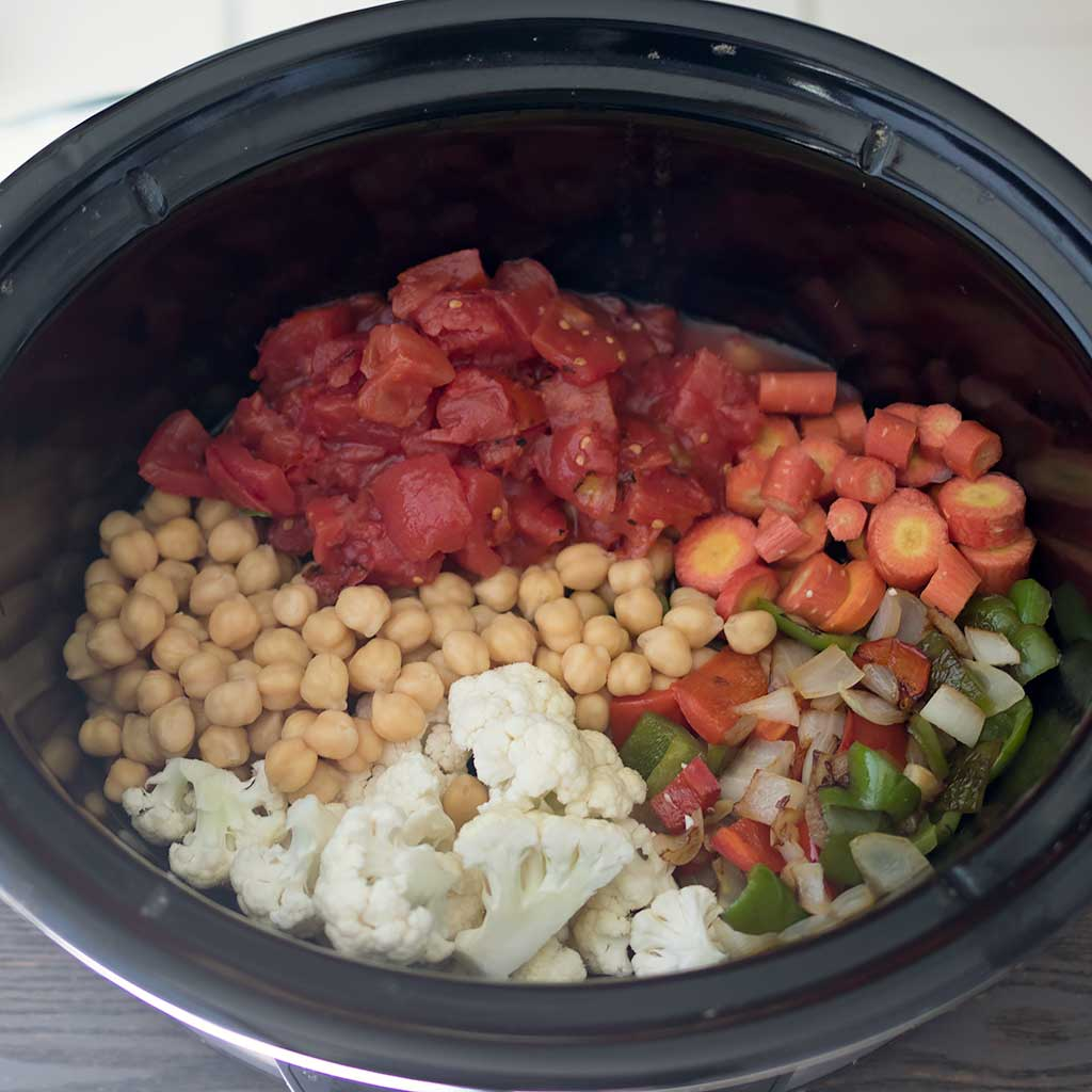 Vegan Slow Cooker Chickpea Vegetable Stew